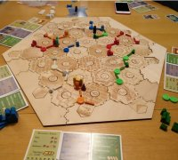 picture about Settlers of Catan Printable known as settlers of catan board\