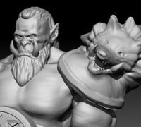 Warcraft 3 Orc Peon 3d Models To Print Yeggi
