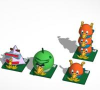 Angry birds space 3d models to print yeggi download free website 3dprintmakers voltagebd Images