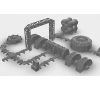 Turbine de ventilation building scenery décor Warhammer 40k 40 000 Warlord 28mm