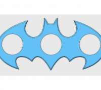 batman logo fidget spinner 3d models to print yeggi. Black Bedroom Furniture Sets. Home Design Ideas