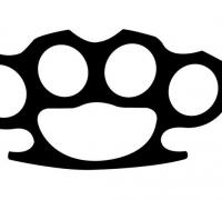 brass knuckles template - knuckles 3d models to print yeggi