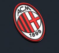 Ac Milan Logo 3d Models To Print Yeggi