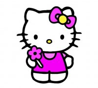 Hello kitty 3d models to print yeggi download free website thingiverse voltagebd Gallery