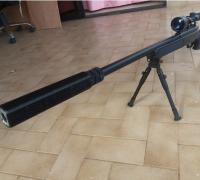 3d print rifle silencer suppressor