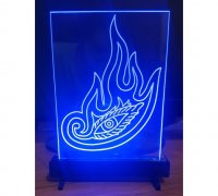 led acrylic sign base