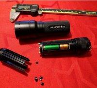 LED LENSER battery cartridge battery holder for P7 P7.2 T7 T7.2