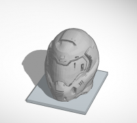 doom slayer helmet 3d model