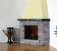 Terrific Dollhouse Fireplace 3D Models To Print Yeggi Home Interior And Landscaping Mentranervesignezvosmurscom