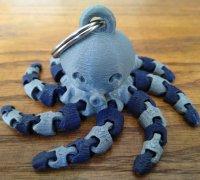 3-D Printed Cute Mini Octopus