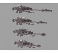 Fortnite 50 Cal Sniper Rifle Battlr Royale Bolt Sniper 3d Models To Print Yeggi