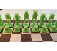 minecraft chess set