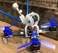 xhover Stingy v2 GOPRO Hero 5 6 7 Mount Fpv Drone Tpu Runcam Case Qav 3d tbs