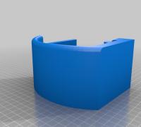 khevga 3 D Soporte de Pared de Metal con c/írculos Color Azul 89 x 31 cm