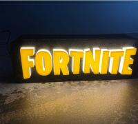 Fortnite Logo 3d Models To Print Yeggi