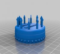 Astonishing Birthday Cake 3D Models To Print Yeggi Funny Birthday Cards Online Elaedamsfinfo