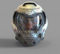 Doomguy Helmet 3d Models To Print Yeggi