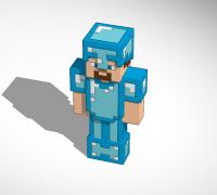 Minecraft Steve Diamond Armor 3d Models To Print Yeggi